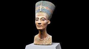 3D egyptian queen nefertiti