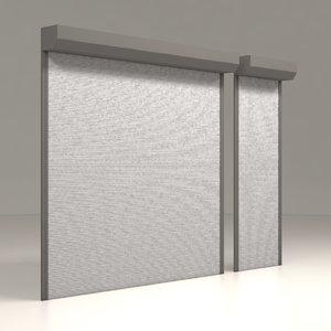 3D model garage door electric