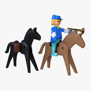 playmobil cavalry trumpet 3D model