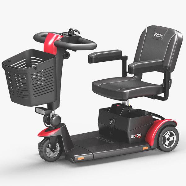 3D 3-wheel mobility scooter go-go model