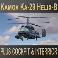 russian kamov ka-29 helix-b 3D