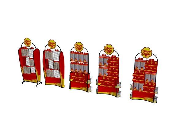 3D model chupa chups vitrins