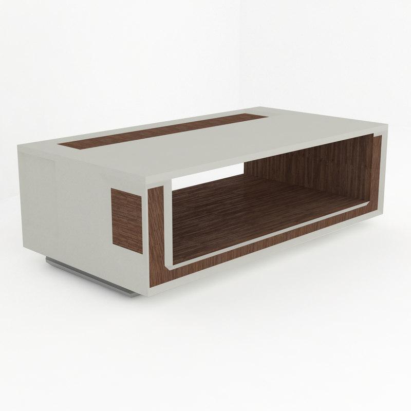 modern tv table white wood model