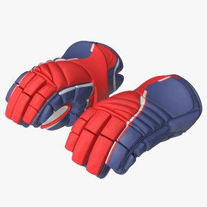hockey gloves rigged 3D