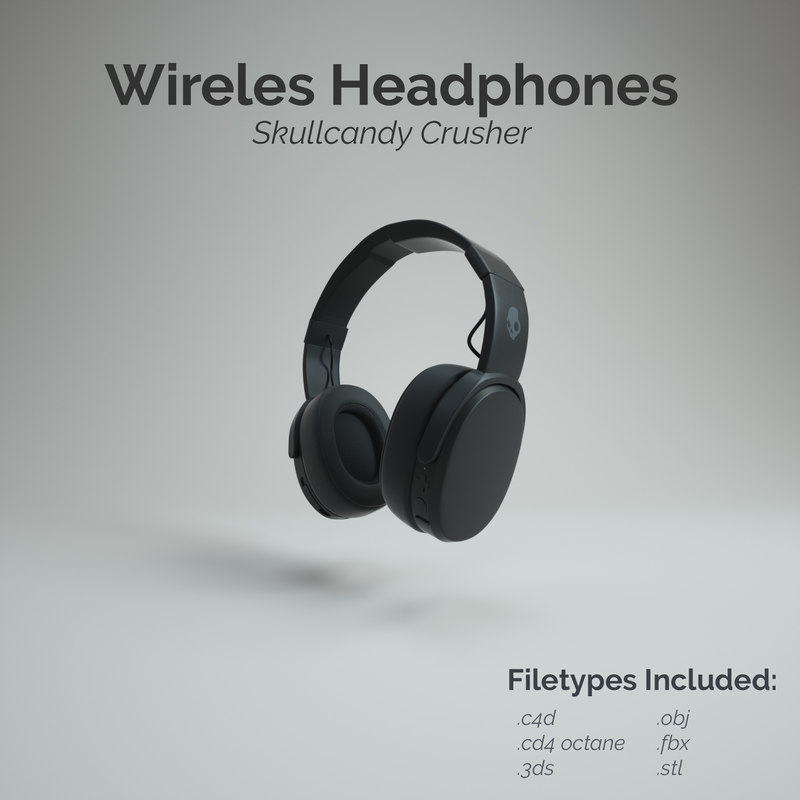 e1108b5463d 3D model skullcandy crusher wireless headphone - TurboSquid 1318754