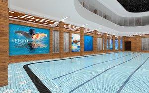 recreational pool modeled 3D model