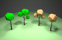 Low poly trees for games