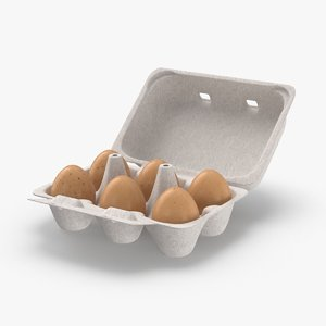 half-dozen-egg-package---open 3D model
