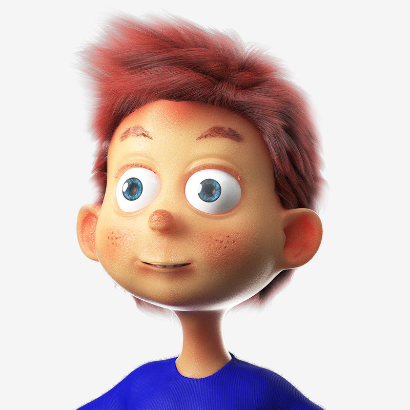 3D model boy cartoon