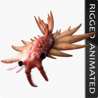 3D anomalocaris canadensis model