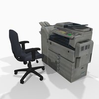 3D photocopier office chair