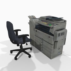 3D photocopier office chair