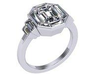 3D emerald ring model