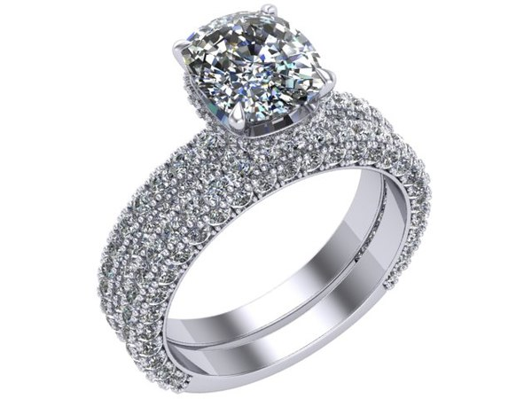 ring matching band 3D model