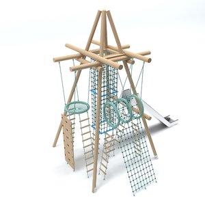 wooden playground model