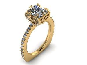 emerald ring 3D model