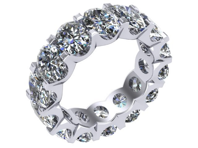 oval eternity band 3D
