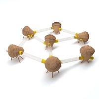 3D wooden nut park playground