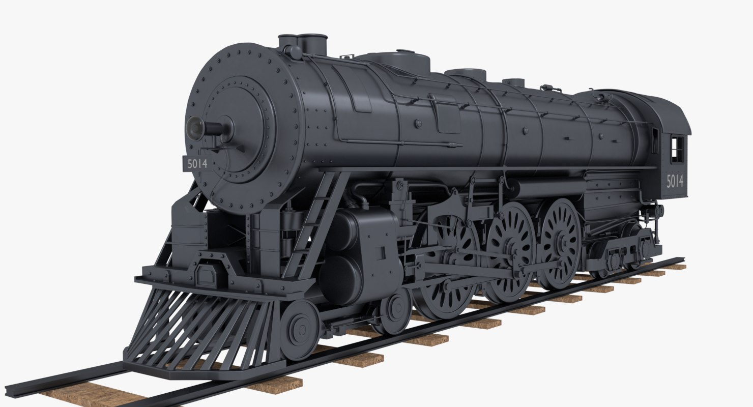 3D steam train model