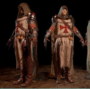 templar thief ue4 pbr 3D model