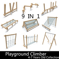 Wooden Playground Barrier collection 4-7