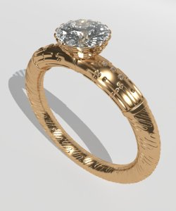 3D ring diamant model