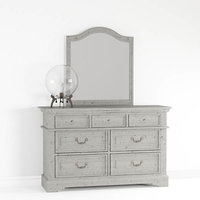 Stonebrook Dresser with Mirror and Pascal Table Lamp