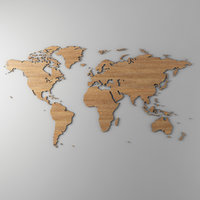 World Map Wall Object