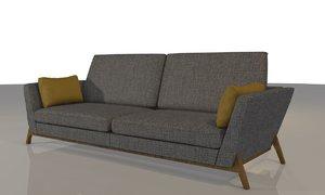 cartago sofa 3 3D model