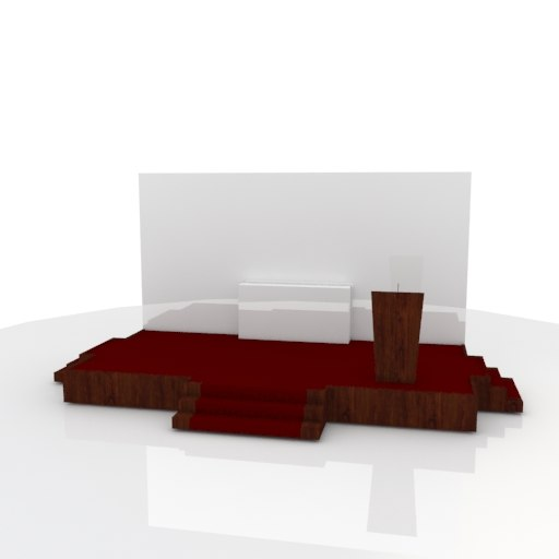 stage rostrum backdrop 3D model