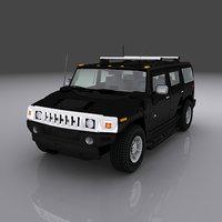 3D hummer h3 model