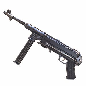 3D mp-40 40 submachine gun model