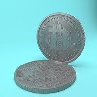 3D coin bit bitcoin