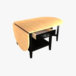 3D model tip-up coffee table