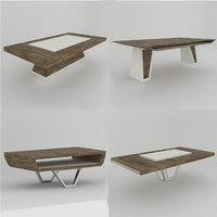 3D 4 modern coffee tables model