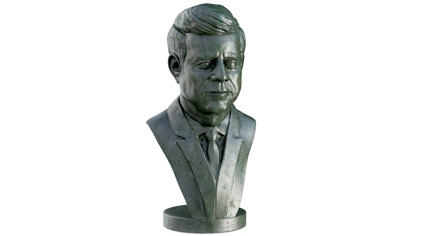 3D john f kennedy bust