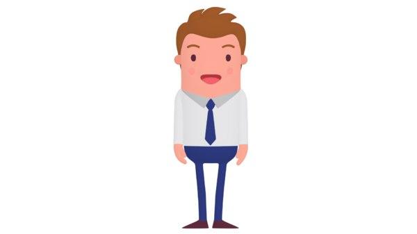 cartoon office man animation 3D