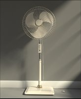 floor standing fan 3D model