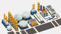 Isometric 3d model Oil Pipe Barrel Idustry Build Constructor