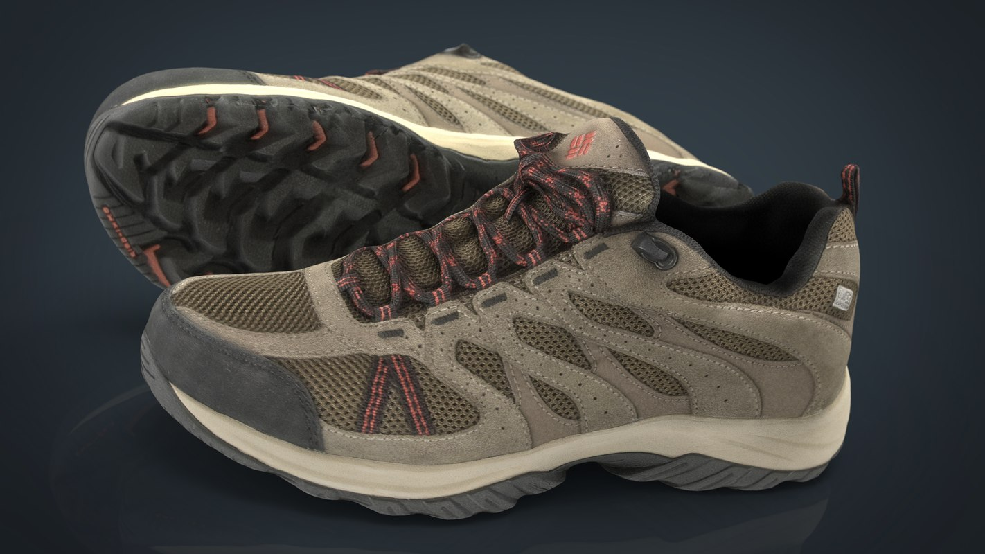 hiking shoes 3D model
