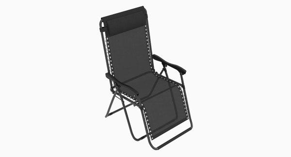 3D model reclining seat