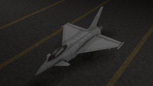retro eurofighter typhoon 2000 3D model
