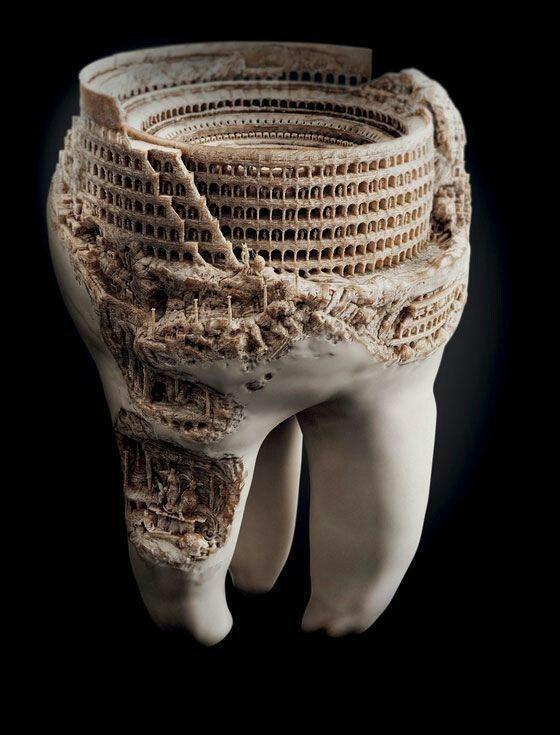 3D model teeth art
