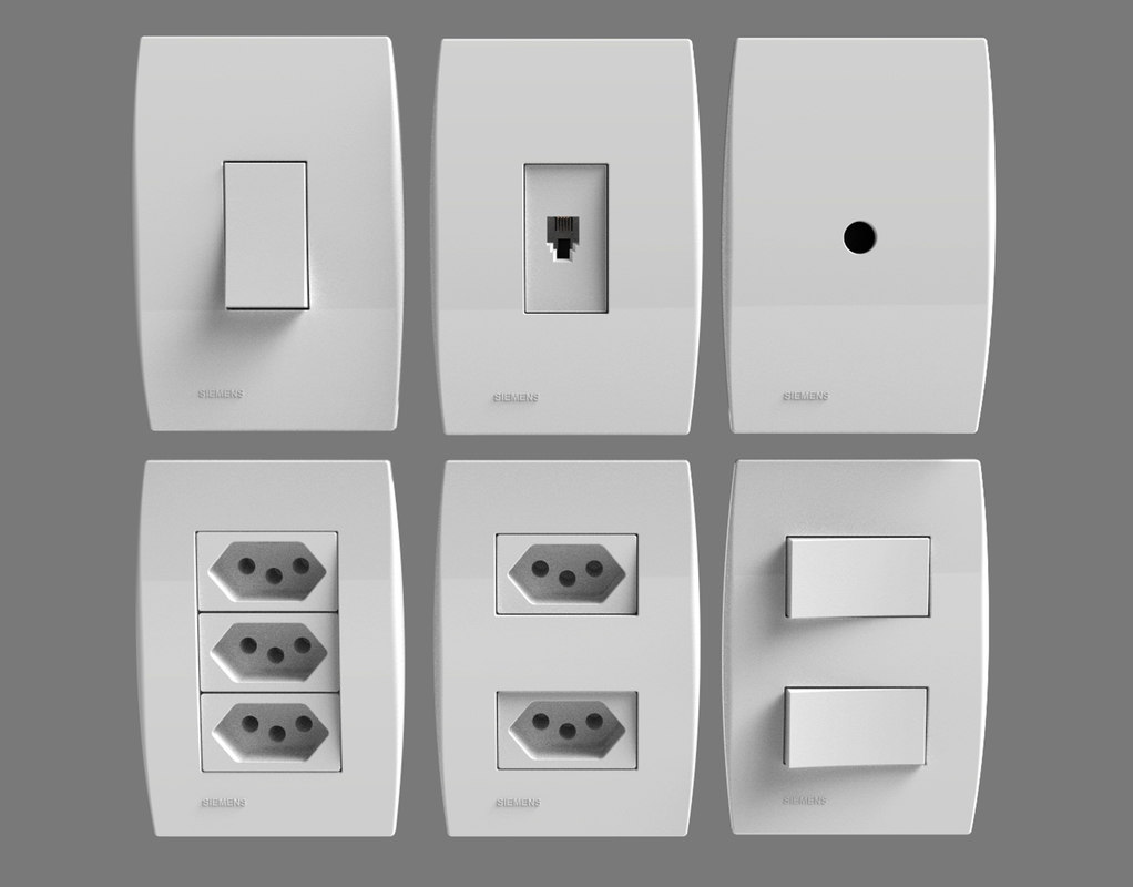 3D siemens outlets switches