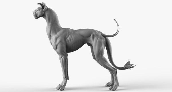 3D alien creature