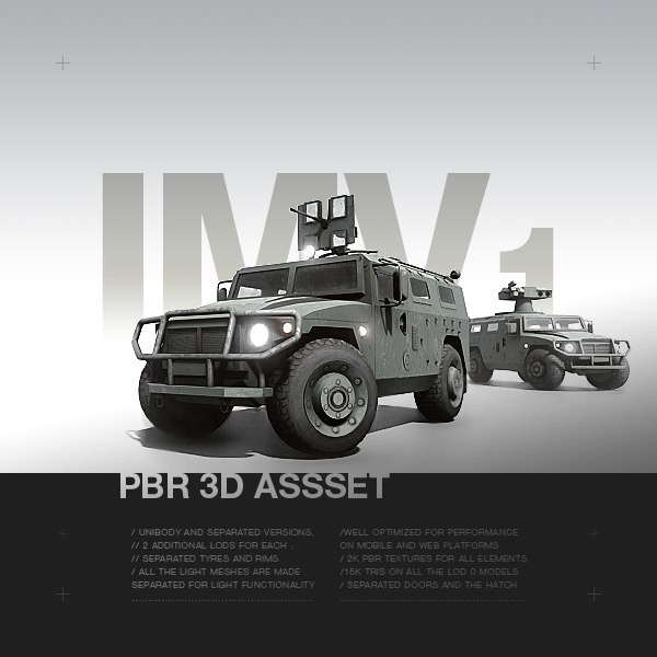 3D model pbr vehicle -