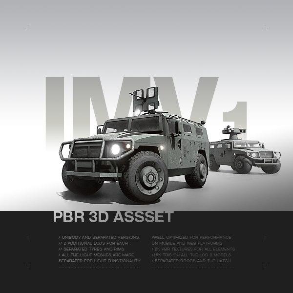 3D model pbr vehicle -