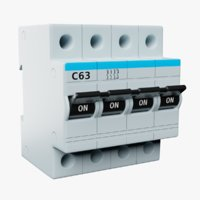 electric automatic switch 63 3D