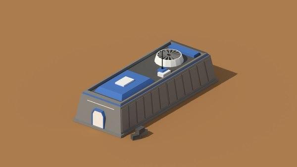 3D model hangar building