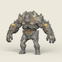 3D ready fantasy stone monster model